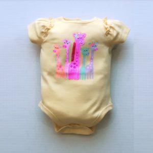 Garanimals Baby Girl Graphic Applique Ruffled Bodysuit