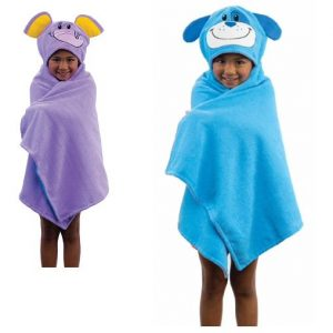 FLIPAZOO 2 IN 1 HOODED CHARACTER CHILDREN KIDS TOWEL