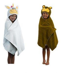 FLIPAZOO 2 IN 1 HOODED CHILDREN KIDS BATH TOWEL LB067